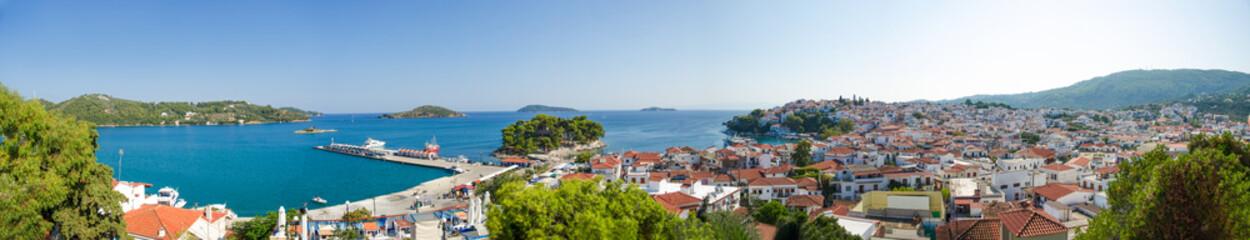 Tropical island panorama view