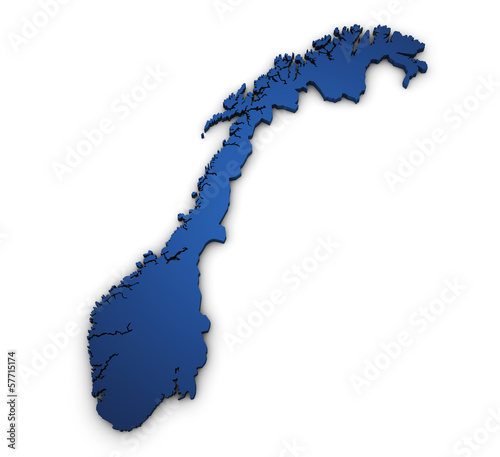 Map Of Norway 3d Shape