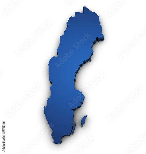 Map Of Sweden 3d Shape