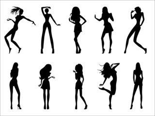 Fashionable model silhouettes