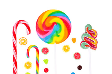 Lollipops and candies