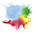 abstract color watercolor blot background