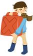 ポリタンクを運ぶ少年