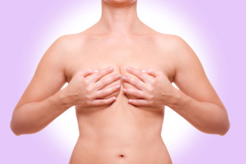 verdeckte Frauen Brust