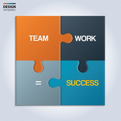 Pieces of jigsaw puzzle showing business equation.