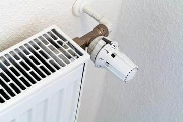 thermostat of home heat radiator