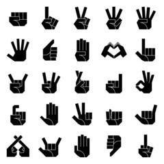 ハンドサイン 左手(黒)