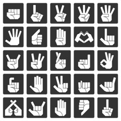 ハンドサイン 左手(白)