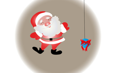 Santa Claus in the sphere