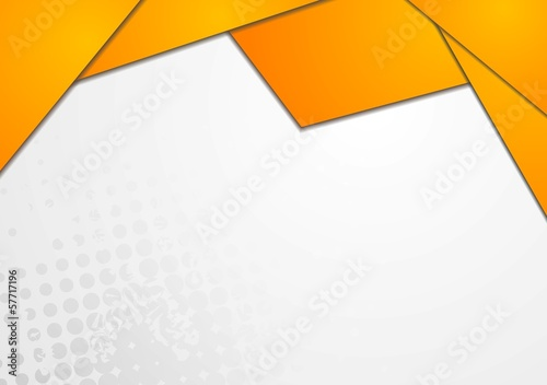 Bright orange design