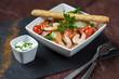 salade composée crudités crevettes 1