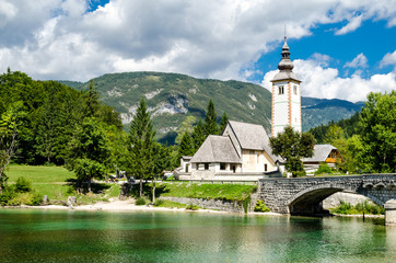 Church of St John the Baptist, Bohinj Lake, Slovenia