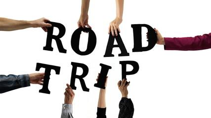 Letter Hands Road Trip