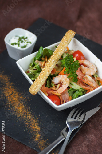 salade composée crudités crevettes 2