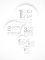 INFOGRAPHIC NUMBER OPTIONS  PROGRESS TEMPLATE GREY