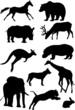 Постер, плакат: Silhouettes of mammal