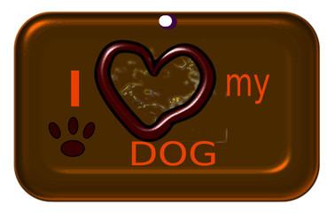 Placa Amo a mí perro