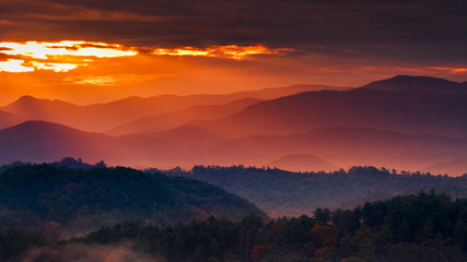 Misty Sunrise in the Smokies