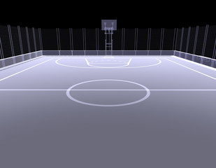 Basketball court. X-ray