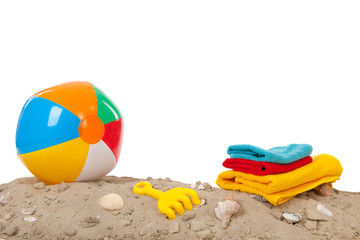 Beach ball and toys