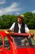 French man having picnic