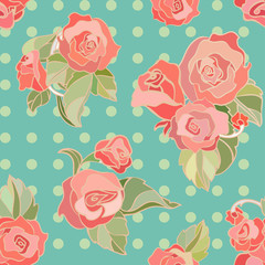 seamless vector pattern with roses