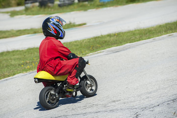 Young driver on minibike