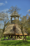 Wooden bell tower wit thatch