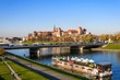 Krakow Panorama with Wawel Castle and Vistula River