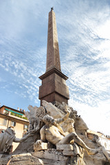 Fountain of Four Rivers and Obelisk