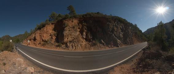 Strasse in Spanien (Panorama)