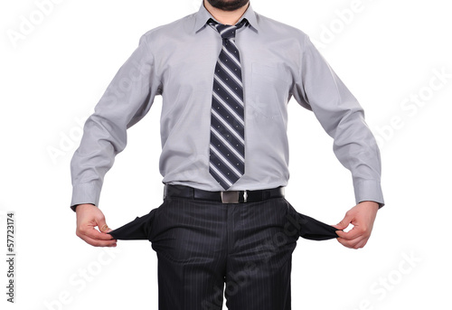 businessman with pockets