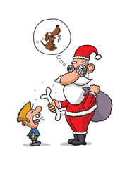 Short sighted Santa