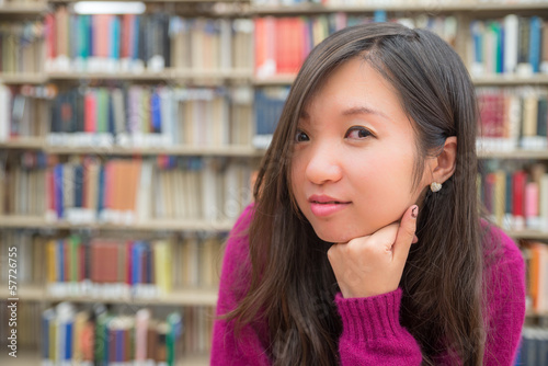 Female Portrait in Library