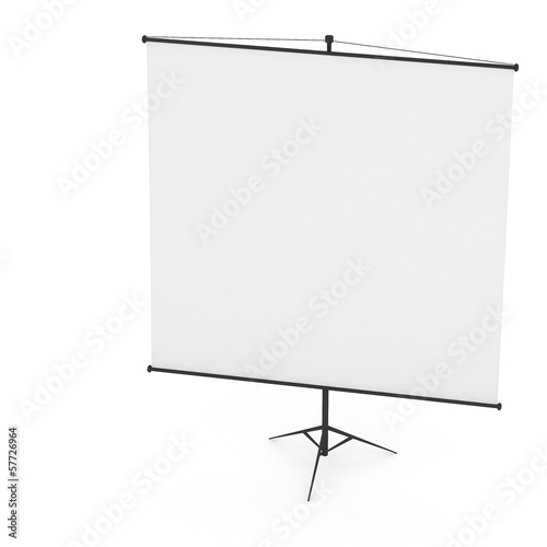 3d Blank Projection screen