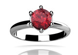 Ruby ring (high resolution 3D image) - 57727191