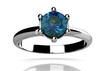 alexandrite ring (high resolution 3D image)