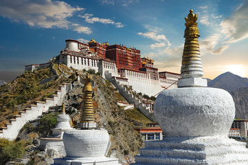 The Potala Palace in Tibet during sunset © wusuowei