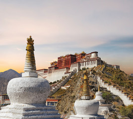 Potala Palace in Lhasa -Tibet