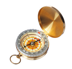goldan compass isolated on white background