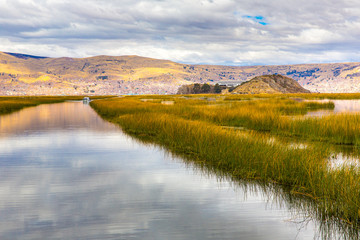 Lake Titicaca,South America, located on border of Peru