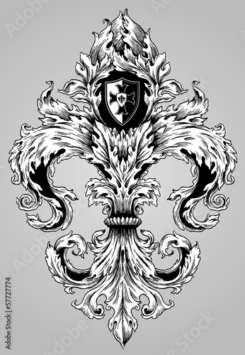 Fancy Hand Drawn Fleur De Lys