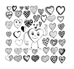 heart drawing and valentines day hearts for your works