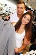 Beautiful young couple in s sport outlet