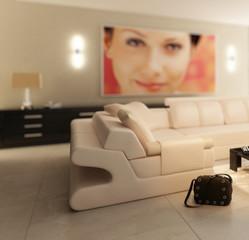Inside a luxury apartment (focused)