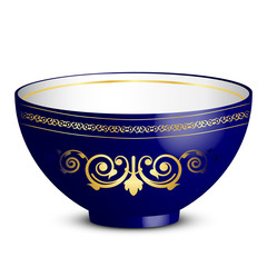 Vector illustration of bowl with ornament