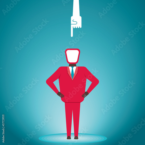 finger pointing in men vector