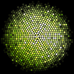 Vector green disco lights background