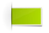 Aufkleber grün leer