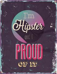 i'm Hipster. Vector illustration.